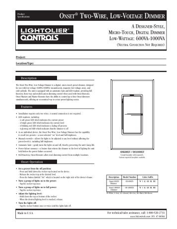 lightolier onset dimmer wiring diagram wiring diagram libraries a designer style micro touch digital dimmer lightolier onset dimmer wiring diagram