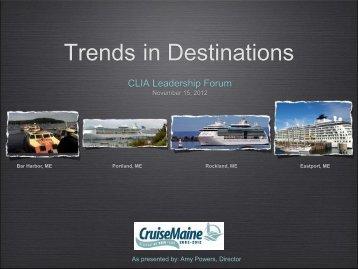 Trends in Destinations