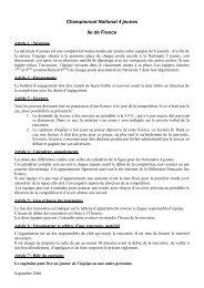 Championnat National 4 jeunes Ile de France - Ligue IdF des Echecs