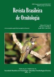 Revista Brasileira de Ornitologia - Sociedade Brasileira de Ornitologia