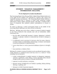 Student Violence/ Harassment/ Intimidation/ Bullying Policy