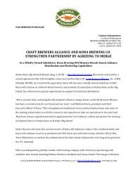 craft brewers alliance and kona brewing co. strengthen partnership ...