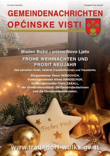 Gemeindenachrichten Weihnachten 2012 - in Trausdorf an der Wulka