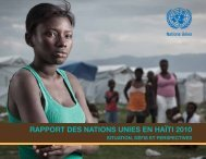 Rapport des Nations Unies en Haïti 2010 - Situation, défis ... - UN Haiti