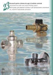 Accesorii pentru sisteme de apa si incalzire centrala