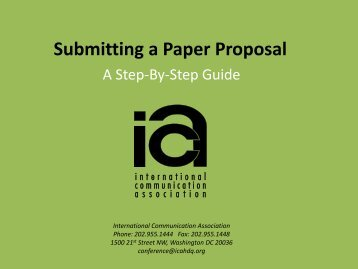 Submitting Paper Proposals - International Communication ...