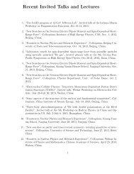 Recent Invited Talks - Triangle Universities Nuclear Laboratory ...