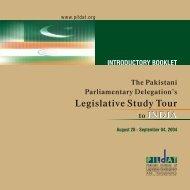 Legislative Study Tour - PILDAT