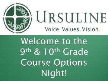 AP Courses - Ursuline Academy
