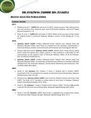 recent selected publications - UPM - Universiti Putra Malaysia