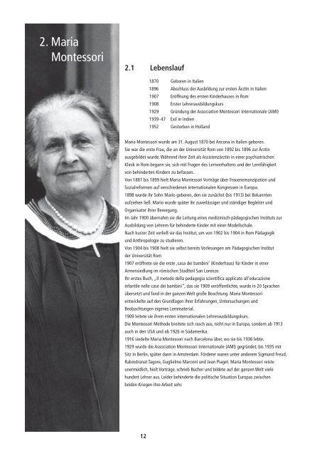 Maria Montessori Lebenslauf By Ben Zeigler