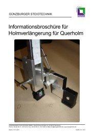 Anleitung - Günzburger Steigtechnik GmbH