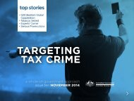 Targeting Tax Crime NOVEMBER