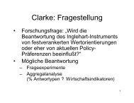 Clarke: Fragestellung - Kai Arzheimer