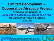 MITR E Limited Deployment – Cooperative Airspace Project
