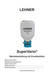 Streutabelle - Lehner Agrar GmbH