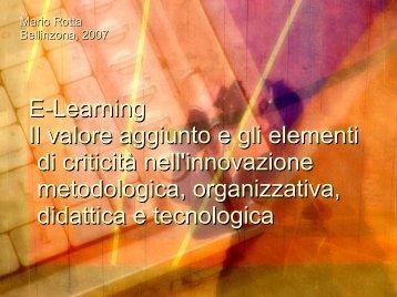 Materiale didattico - Mario Rotta