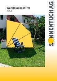 Wandklappschirm WKS - Sonnentuch AG