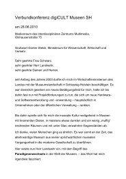 Grußworte Günter Stelck, Ministerium für ... - digicult-sh.de