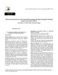 Abstracts Presented at the 23rd Annual International Meeting of ...
