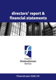 Report and financial statements - Financial Ombudsman Service