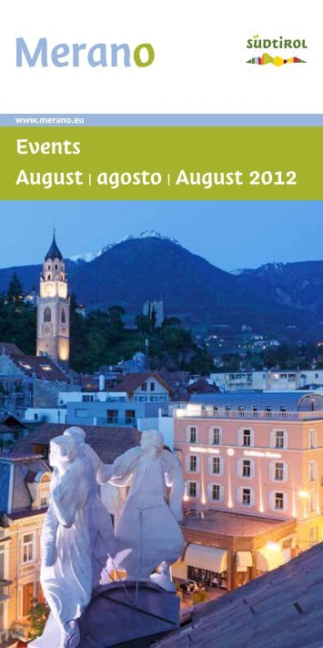 Events August | agosto | August 2012 - Hotel Bavaria & Hotel Palma