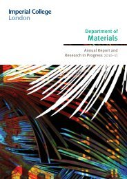Department of Materials - Imperial College London
