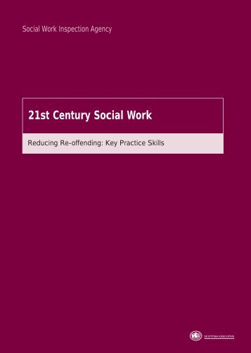 Reducing Re-offending: Key Practice Skills - Scottish Government