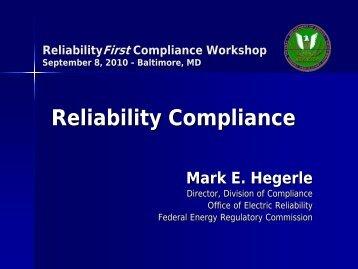 SERC Compliance Seminar - ReliabilityFirst