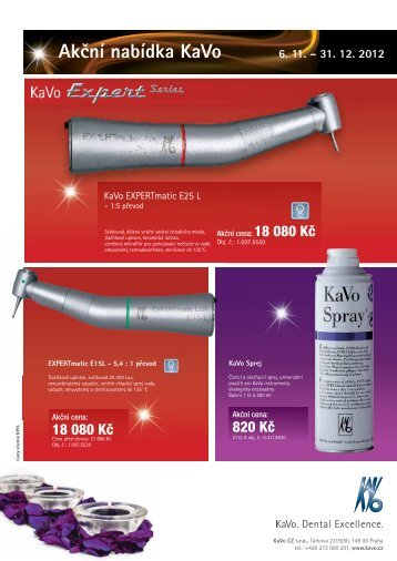 Akční nabídka KaVo 6. 11. – 31. 12. 2012 - KAVO.cz