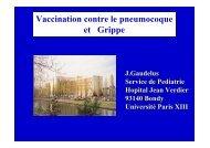Vaccination contre le pneumocoque et grippe