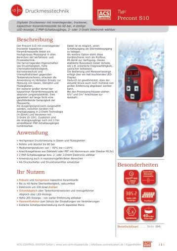 Anwendungsbeispiele für Precont-S10 - ACS-CONTROL-SYSTEM ...