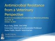 2. Microbiological resistance - NCAFDO