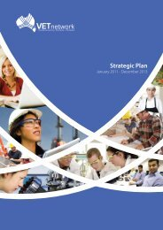 VETnetwork Australia Strategic Plan 2011 - 2013