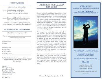 PDF brochure and registration form - University of South Alabama ...