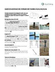 Notice de montage H3 - H6 (PDF) - Hortima