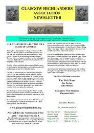 glasgow highlanders association newsletter - The Royal Highland ...