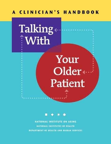 Talking With Your Older Patient, Clinician Handbook - Disability ...
