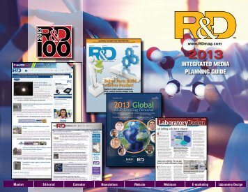 Integrated MedIa PlannIng guIde - R&D Magazine