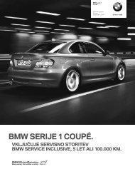 Prenos podatkov Trenutne cene za BMW Serija 1 Coupé (PDF, 230k).