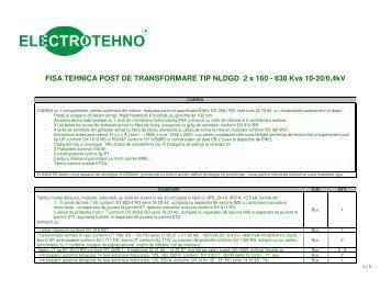 FISA TEHNICA POST DE TRANSFORMARE TIP ... - Electrotehno