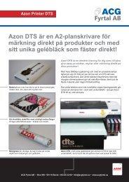 Azon DTS är en A2-planskrivare för märkning direkt ... - ACG Fyrtal AB