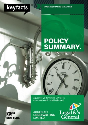 Home Insurance Enhanced policy summary - Legal & General