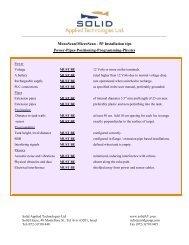 MicroScan - 5P Installation tips - Solid Applied Technologies Ltd.