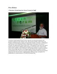 Cinnamon Grand launches Green Forum For Staff