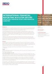Offsetting Financial Assets and Financial Liabilities - BDO International