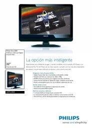 22PFL3404/77 Philips Televisor LCD con Digital Crystal Clear
