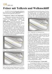 Fräser mit Teilkreis und Wellenschliff - MTS AG