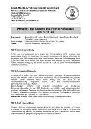 Protokoll der Sitzung des Fachschaftsrates Am 1. 11 .04