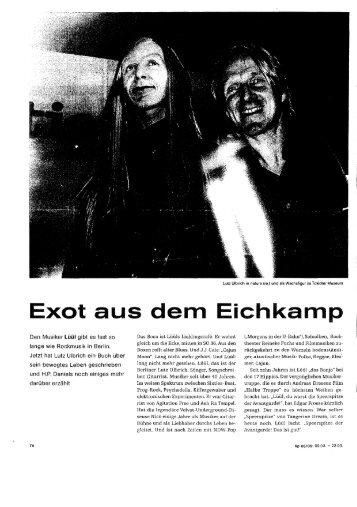 Exot aus dem Eichkamp - Siedlung Eichkamp